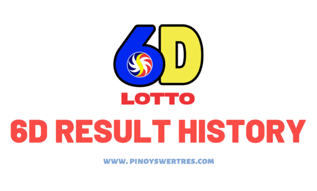 PCSO 6D Lotto Result history